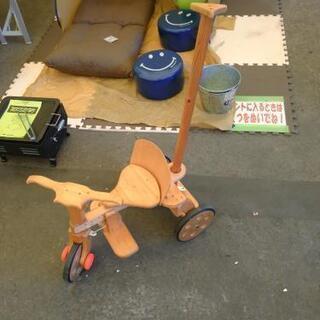 ◎HK-951説明文必読‼️木製 三輪車 補助ハンドル付き