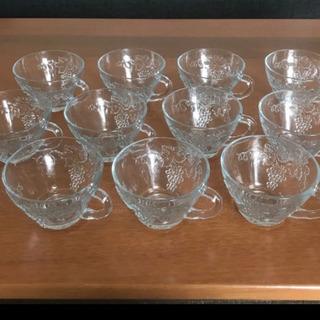 【ネット決済】アンカーホッキング 葡萄柄ガラスカップ