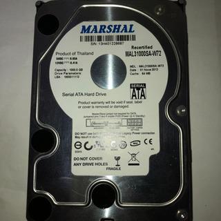【ジャンク】1TBのハードディスクをお譲りします