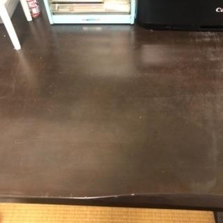 【見つかりました】ダイニングテーブル(+椅子一脚とベンチシートあ...