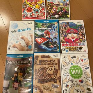 【交渉中】Wii & WiiU ゲームソフト8本