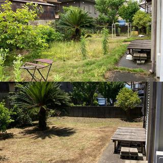 お庭の除草など