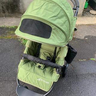 ベビーカー Air buggy 3輪 限定色 緑 グリーンティー