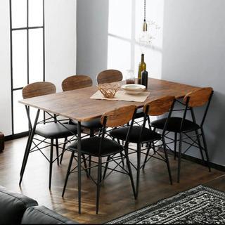 【ネット決済】LOWYA 5人掛け テーブル
