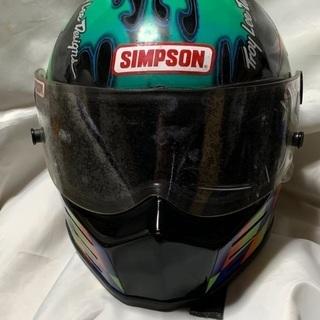 シンプソンタイプ ヘルメット ブラック Mサイズ