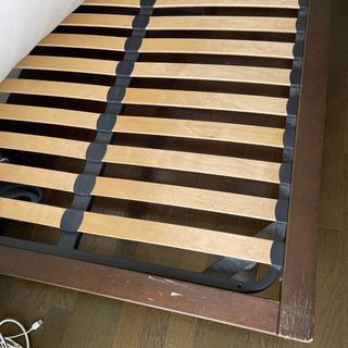 無印 セミダブル 木製ベッドフレーム マットレス  セット