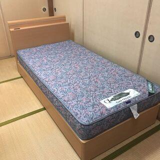 フランスベッド、シングルサイズ、アルファーモーニング、高反発マッ...