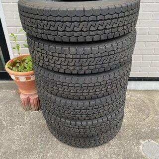 格安再生中古タイヤ 225/80R17.5 6本セット 4tトラ...