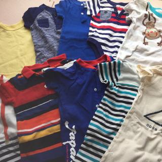【ネット決済】ブランド品含むベビー服夏物ロンパース等11枚。