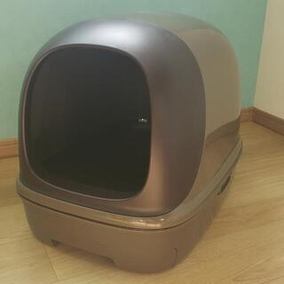【お取引中】デオトイレ フード付き ブラウン 猫トイレ