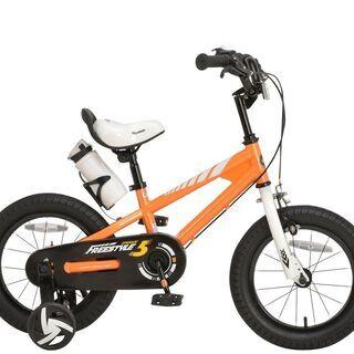 子供用自転車 14インチ オレンジ((5956)