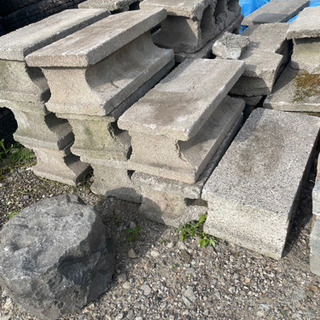 コンクリートブロック レンガ 石 まとめて 大量 − 北海道