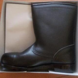 【ネット決済】新品 日本製 革製安全靴 半長靴 27センチ
