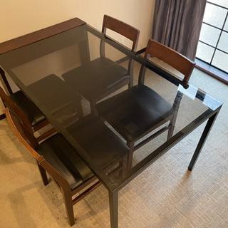 【2セットあります】桜屋工業 マシオンテーブルとメーカー不明の椅子4脚