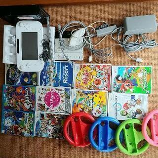 【ネット決済】Wii,Wii U 本体一式、ソフト10本、太鼓の...