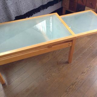 伸縮式ウッドテーブル