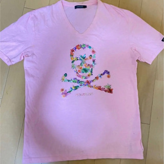 LOVELESS ラブレス Tシャツ ピンク フラワードクロ