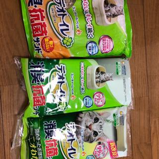 デオトイレ 消臭・抗菌サンド、シート8枚セット 猫用品