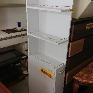 キッチン 隙間収納 幅20 ワゴン サニタリー収納 ホワイト40906