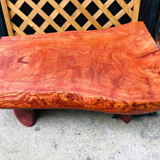 一枚板の座卓 昭和レトロ アンティーク家具に