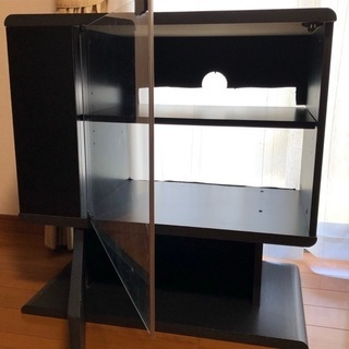 ハイタイプ黒のテレビ台 無料