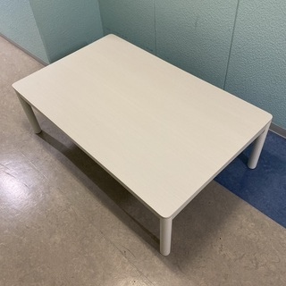 【ネット決済】《美品》白いローテーブル(コタツ機能付)定価25,...