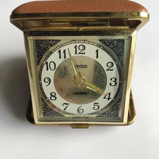 シチズン 昭和レトロ目覚まし置き時計 ぜんまい式