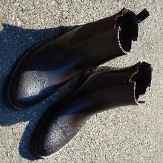ブーツ型のレインブーツ