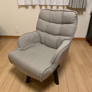 【美品】「ポポロロ回転チェア」 コンパクト 高座椅子 おしゃれ ...