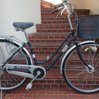 【ネット決済・配送可】【中古自転車】27インチ変速なし LEDオ...