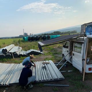 農作物や資材の運搬、整理