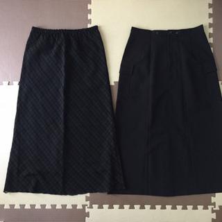 美品未使用 フォーマル スカート ブラック2枚