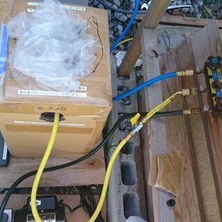 エアコンガス抜け(カラ状態)、冷媒ガス配管補充したい方。R…