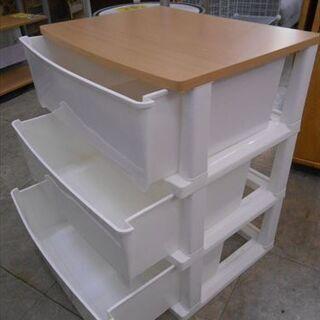 ウッドトッププラチェスト 3段 - 家具