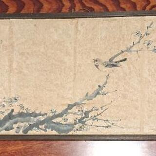 【ネット決済・配送可】骨董品  古物  水墨画