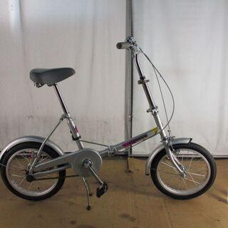 未使用 中古折りたたみ自転車 B331 シルバー 【16インチ 】