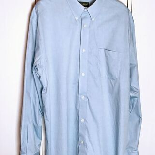 メンズ Eddie Bauer ブルーシャツ XL エディーバウアー