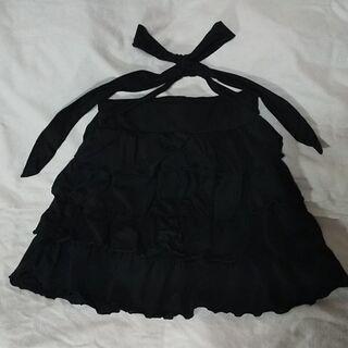 losion 4段フリル万能黒スカート【中古】