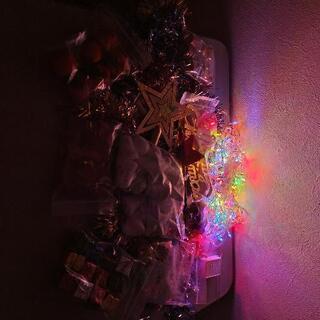【ネット決済】クリスマスツリー飾り、照明
