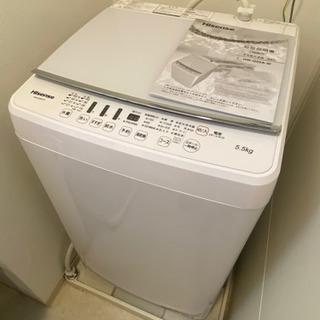 洗濯機 5.5kg 2018年購入美品