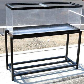 引取限定◆アクリル水槽+鉄製水槽台セット◆1200×450×h4...