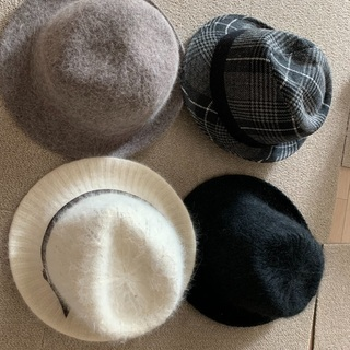 【ネット決済・配送可】帽子 4つセット