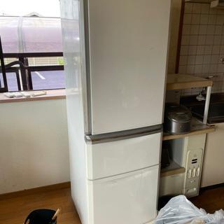 即決 冷蔵庫 3ドア 370L 中古 動作品 現状 中川区…
