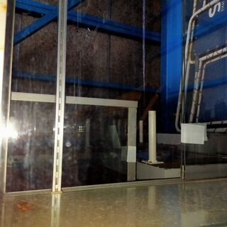 F102  ショーケース 現状品 什器 幅91 奥30.5 高69cm 脚なし  - 札幌市