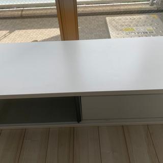 【ネット決済】TVボード 白、幅120cm、奥行44.5cm