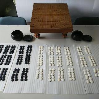 碁盤、碁石セット+新品碁石