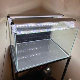 水槽60センチ、照明2台、水槽台、パワーフィルター