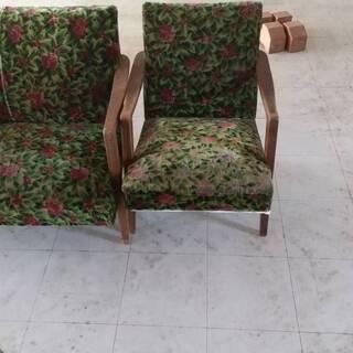 花柄のソファー、椅子