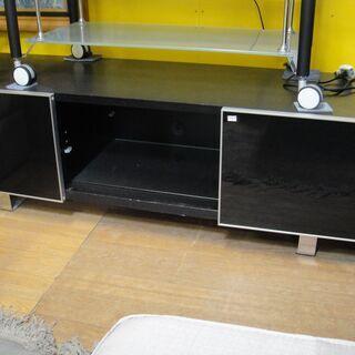 テレビボード 引き戸扉 ガラス棚 スライドドア TVボード TV...