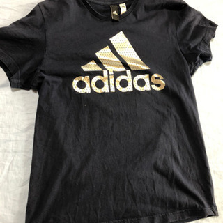 adidas 半袖tシャツ サイズM カラー紺色